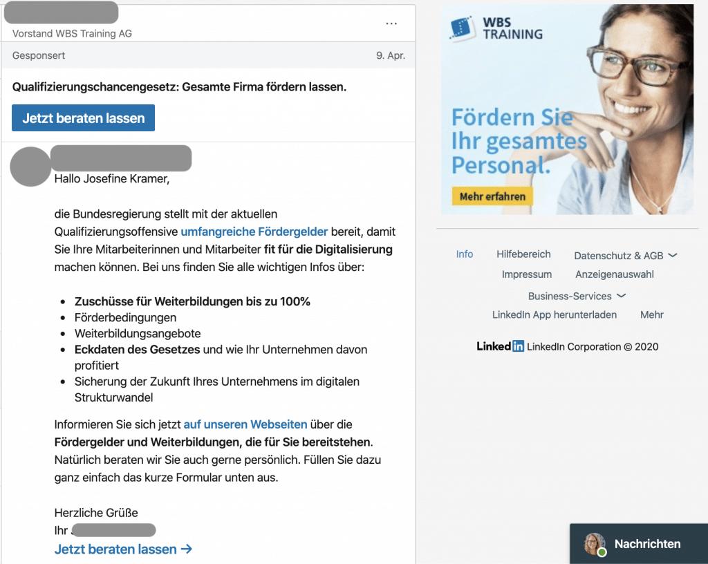 LinkedIn Ads Leitfaden: Message Ads