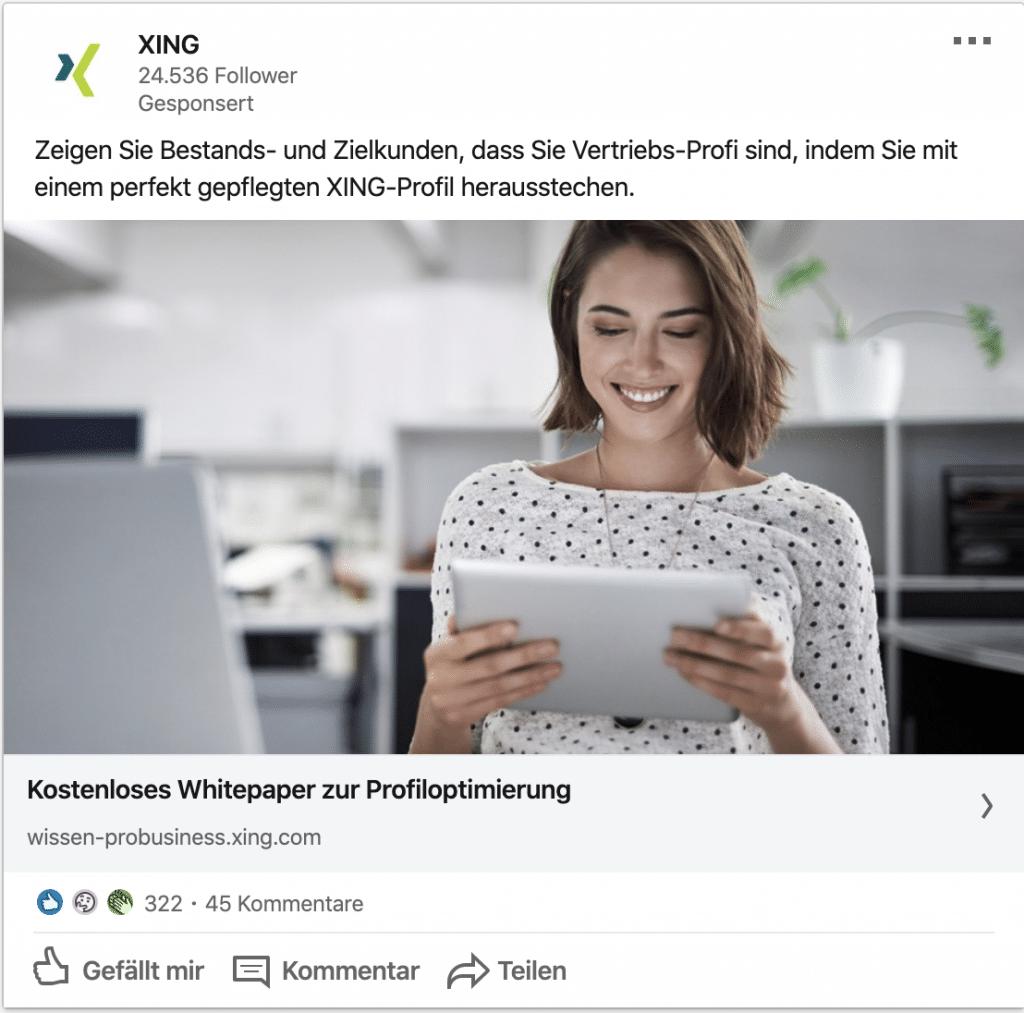 LinkedIn Ads Leitfaden: Single Image Ad