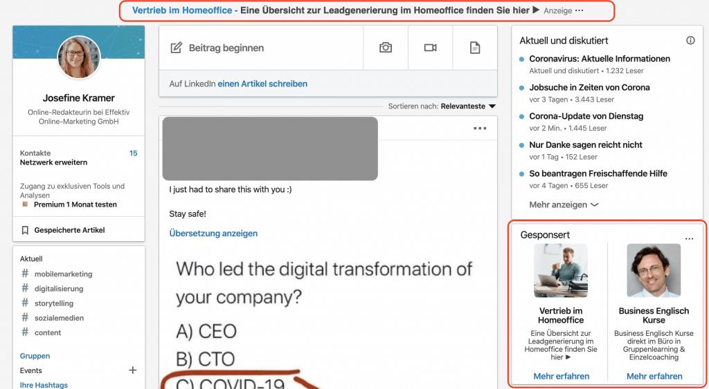 Text Ads LinkedIn