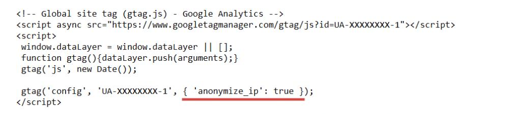 Google Analytics Implementierung Datenschutzkonformer Tracking Code