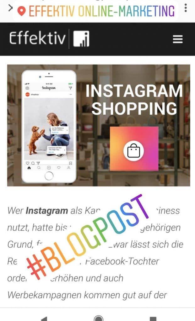 Instagram Story Hashtag