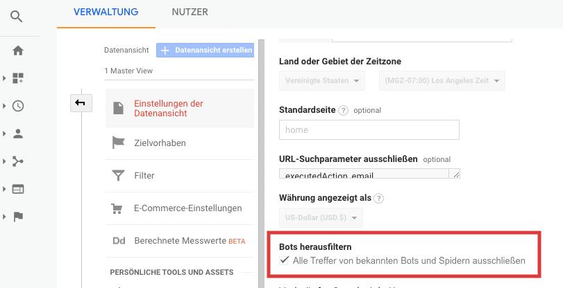 Google-Analytics-Fehler vermeiden: Bots herausfiltern