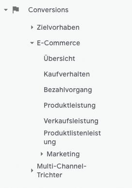 Google-Analytics-Fehler vermeiden: Conversions E-Commerce Tracking