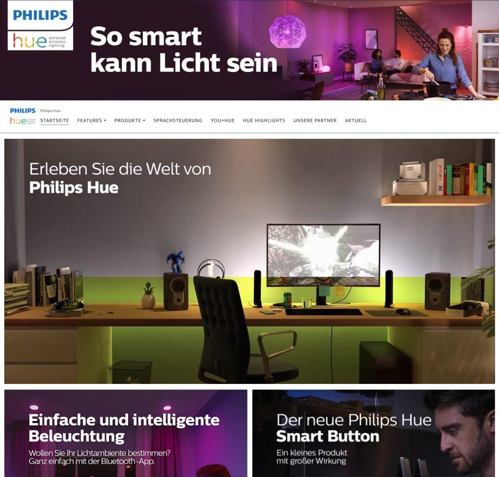 Amazon Store erstellen: Philips Hue Store