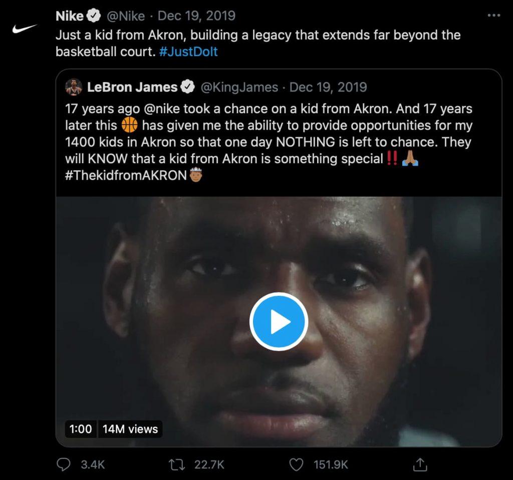 Was sind Hashtags? Nike benutzt auf Twitter den Branded Hashtag #JustDoIt.