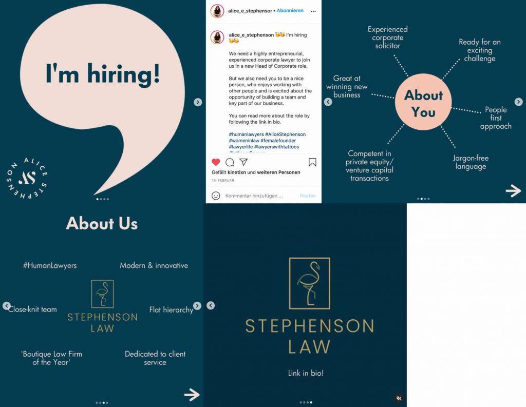 hr marketing auf instagram 2021 carousel