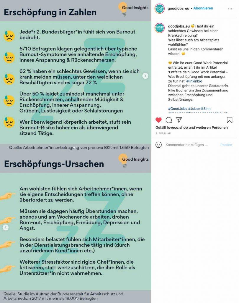 hr marketing auf instagram 2021 good jobs carousel