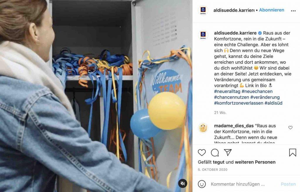 hr marketing auf instagram 2021 video aldi sued